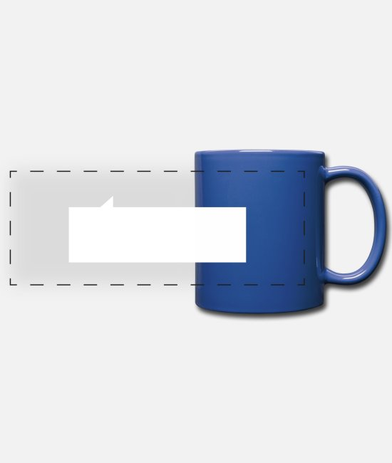 Graphics Mugs & Drinkware - Speech bubble rectangle - Panoramic Mug royal blue