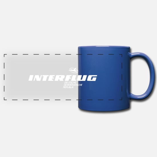 Flight Mugs & Drinkware - Interflug knows - Panoramic Mug royal blue