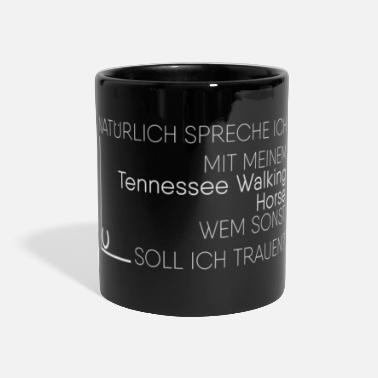 Tennessee Walking Horsezucht Tennessee Walking Horse Geschenk - Panoramatasse einfarbig