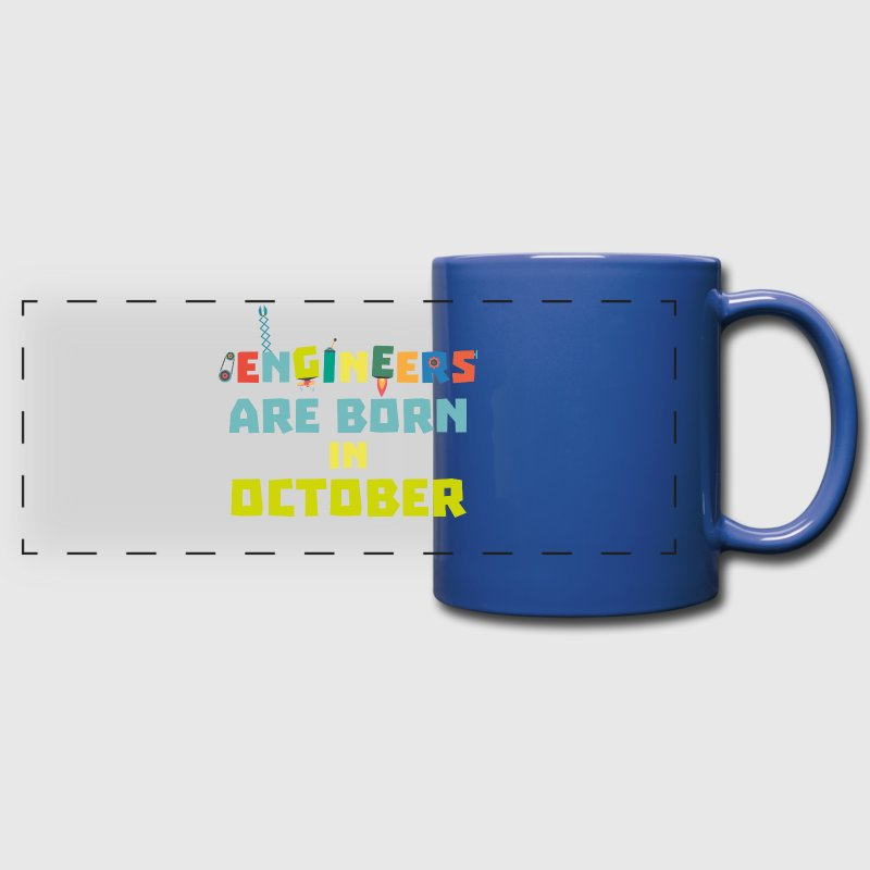 Engineers are born in October S3zoj-Design - Full Color Panoramic Mug