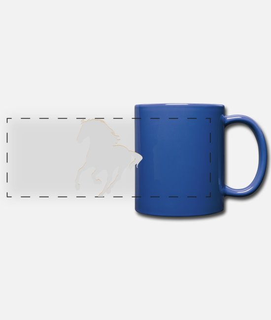 Ride A Horse Mugs & Drinkware - Real Horse - Panoramic Mug royal blue