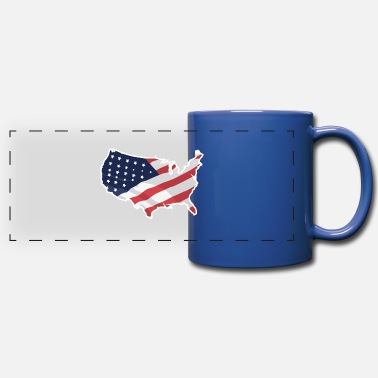 Independence Day USA American Flag Independence Day - Mug panoramique
