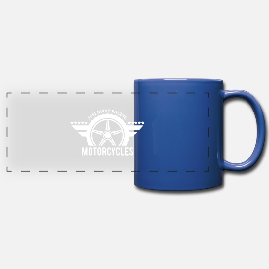 Gift Idea Mugs & Drinkware - Speedway Racing Motorcycles - Panoramic Mug royal blue