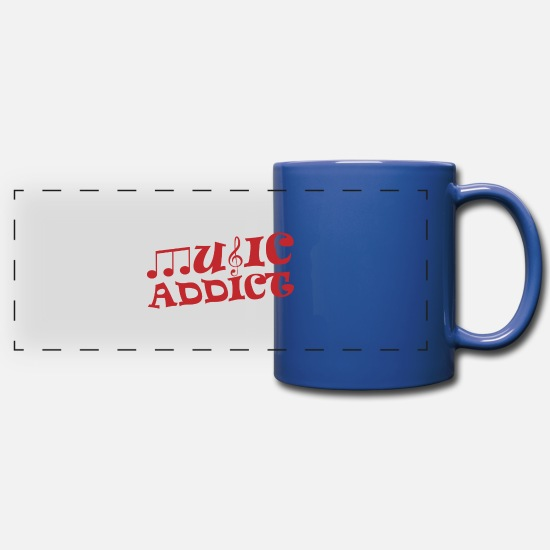 Musicien Mugs et récipients - Music Addict Music Gift - Mug panoramique bleu royal