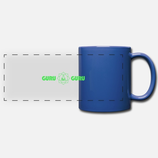 Love Mugs & Drinkware - Guru Guru - Yoga Meditation Design - Panoramic Mug royal blue