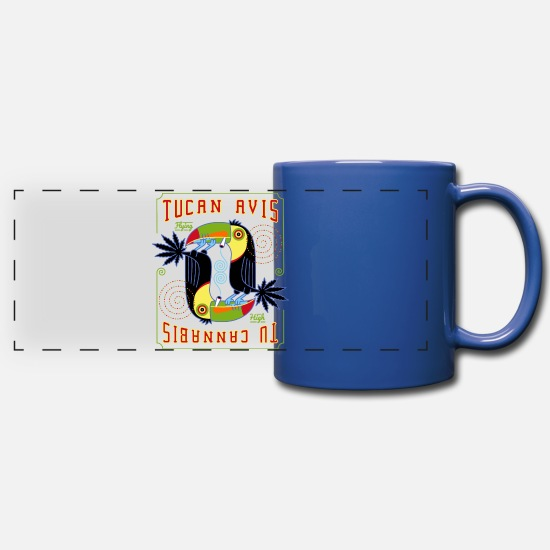 Spliff Mugs & Drinkware - Tucan Avis - Panoramic Mug royal blue