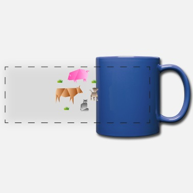 Origami Origami paper farm farm animals gift - Panoramic Mug