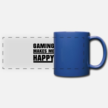 Online Gaming makes me happy - Panoramic Mug