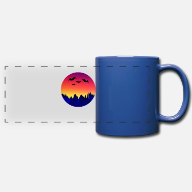 Batting Bat Bat Wing Bats - Panoramic Mug