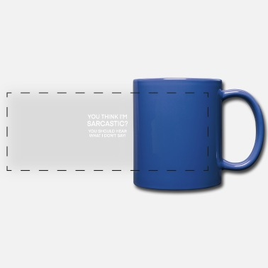 Witty Sarcastic witty saying memes - Panoramic Mug