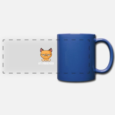 Grumpy In The Morning No Morning Man Grumpy Cat Morning Grouch - Panoramic Mug