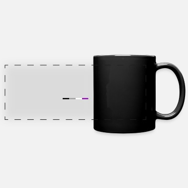 Equality Asexual flag subtle | LGBTQI + | QUEER | ALLY - Panoramic Mug