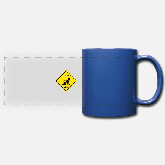 Pregnancy Mugs & Drinkware - Crawling kid crossing - Panoramic Mug royal blue