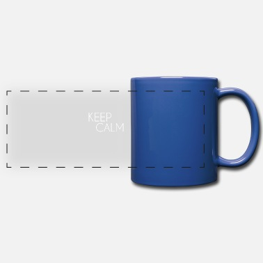Keep Calm white - Panoramic Mug