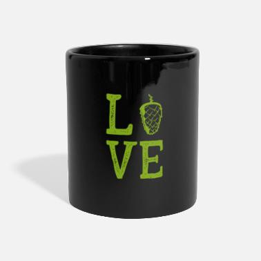 Wheat Love Gift Brewer Hops Malt BeerGlass - Panoramic Mug
