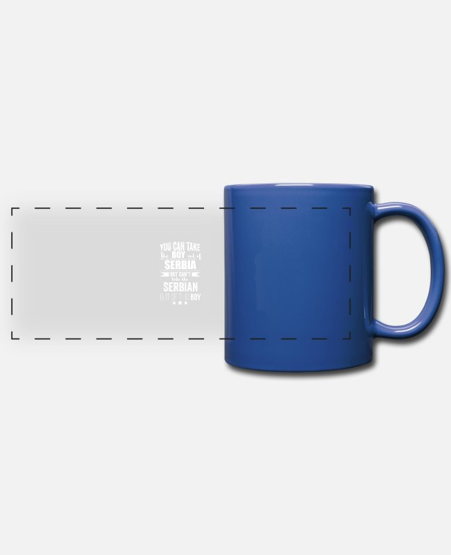 Usa Mugs & Drinkware - Can take boy out of Serbia but Can't take the - Panoramic Mug royal blue