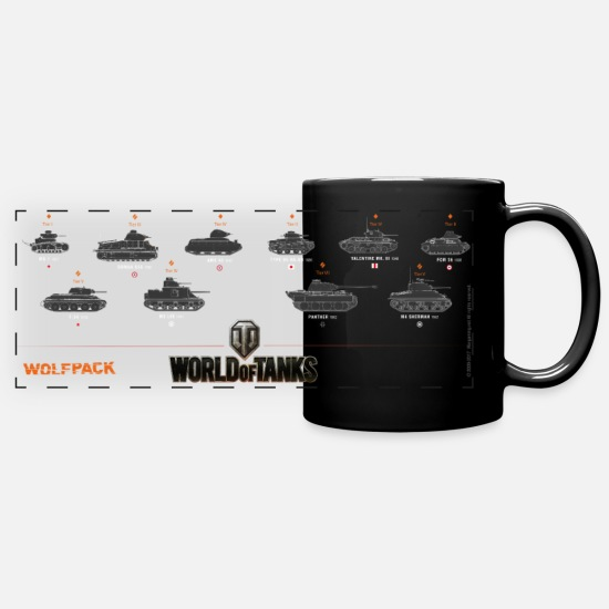 Wot100 Tazze & Accessori - World of Tanks Wolfpack - Tazza panoramica nero