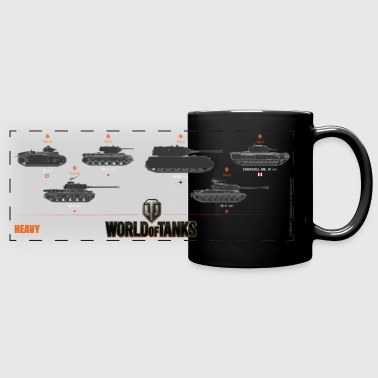 World of Tanks Heavy - Kolorowy kubek panoramiczny