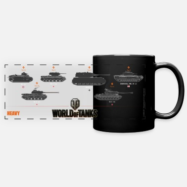 World Of Tanks World of Tanks Heavy - Taza panorámica de color