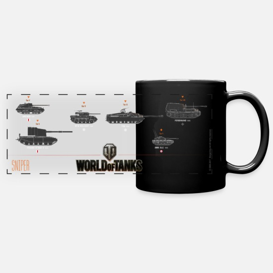 Wot100 Mugs & Drinkware - World of Tanks - Sniper Mug - Panoramic Mug black