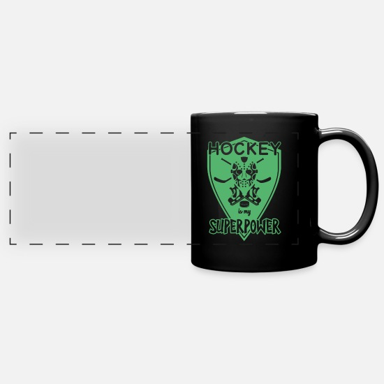 Floor Hockey Mugs & Drinkware - Field Hockey Field Hockey Field Hockey Field Hockey - Panoramic Mug black