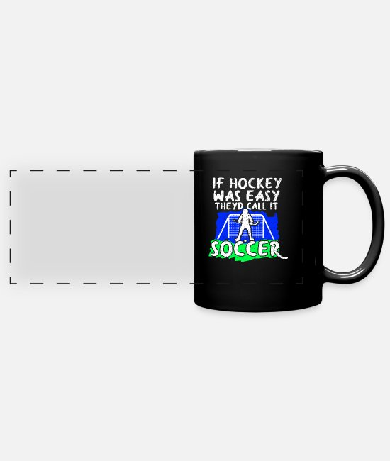 Floor Hockey Mugs & Drinkware - hockey - Panoramic Mug black