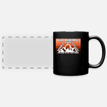 Hiking hike hiking group mountains climbing forest - Panoramic Mug