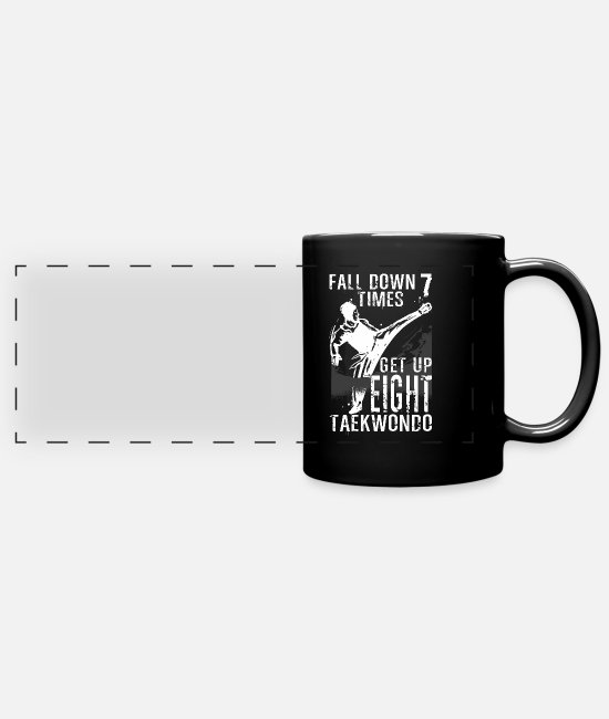 Martial Arts Mugs & Drinkware - Taekwondo Tae kwon do martial arts gift sport - Panoramic Mug black