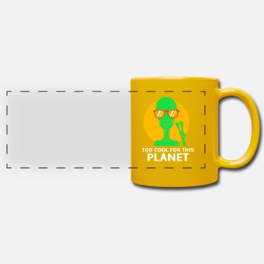 Outerspace Alien - Panoramic Mug