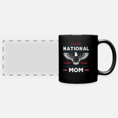 Us Military Proud National Guard Mom Memorial Day Gift - Panoramic Mug