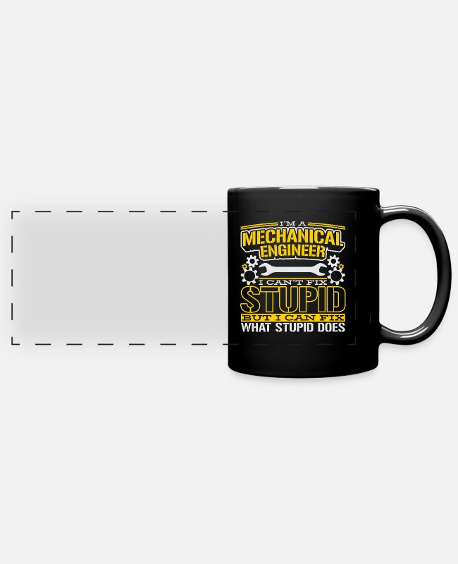 Industry Mugs & Drinkware - Mechanical engineering mechanical engineer technician engineer - Panoramic Mug black