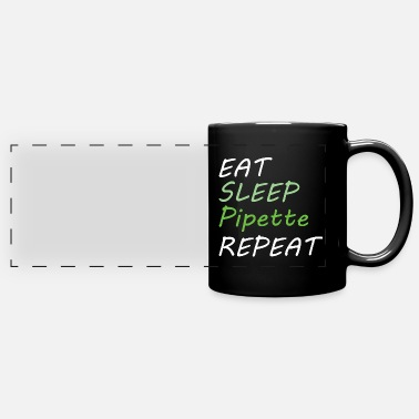 Sleep BIOLOGY: Eat Sleep Pipette - Panoramic Mug