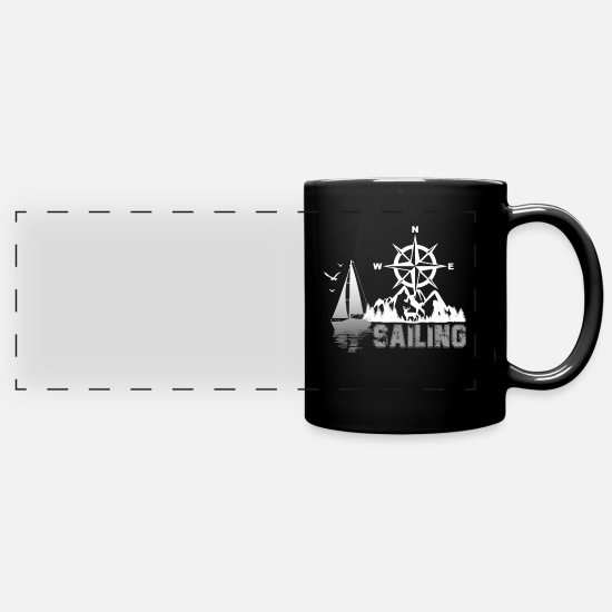 Sailboat Mugs & Drinkware - sailing - Panoramic Mug black