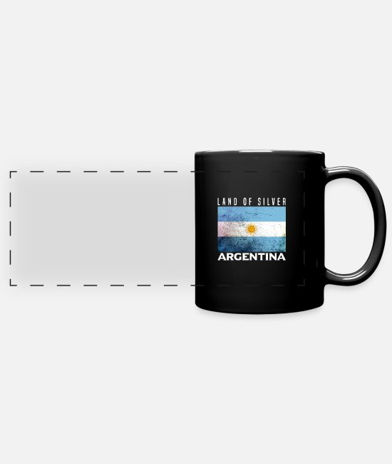 South America Mugs & Drinkware - Argentina - Panoramic Mug black