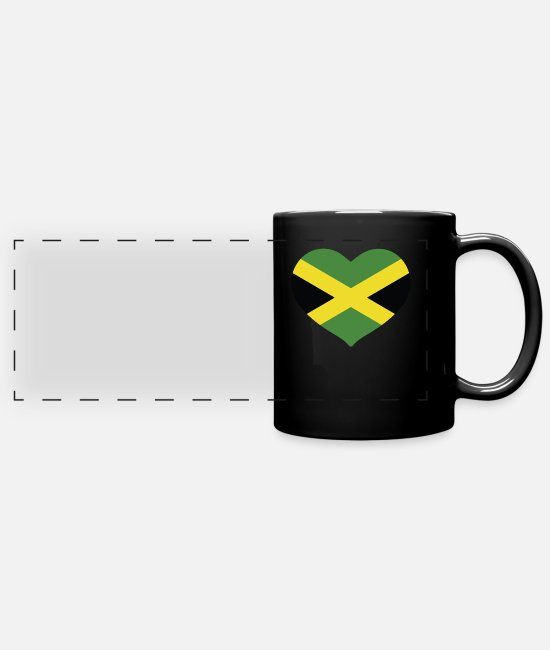English Mugs & Drinkware - HEART JAMAICA - Panoramic Mug black
