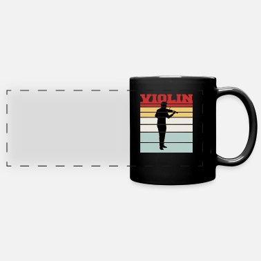 Viool Distressed Violin Team Tshirt - Panoramic Mug