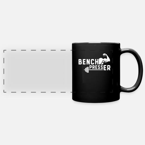 Gift Idea Mugs & Drinkware - Bench Press Bank Pressing Fitness Bench Press Sport - Panoramic Mug black