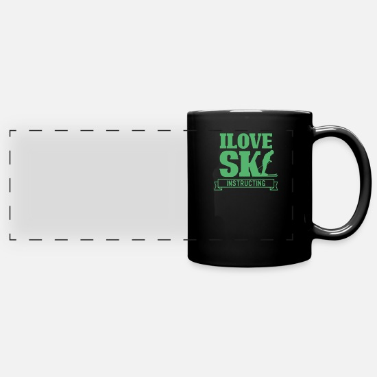 Gift Idea Mugs & Drinkware - Ski school Ski instructor Ski instructor Ski course trainer - Panoramic Mug black