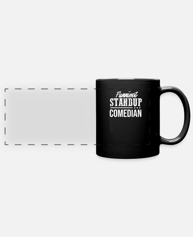 Stand Mugs & Drinkware - Comedian Comedy Stand Up Comedy Performance Funny - Panoramic Mug black