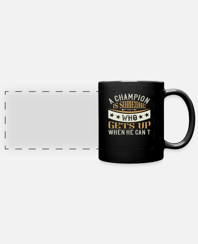 Boxspruch Mugs & Drinkware - Boxing boxing - Panoramic Mug black