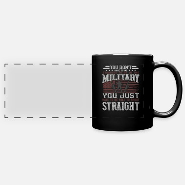 Serve Veterans Day military army - Panoramic Mug