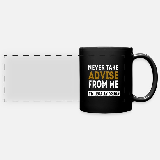 Birthday Mugs & Drinkware - Legal drunk adult alcohol gift - Panoramic Mug black