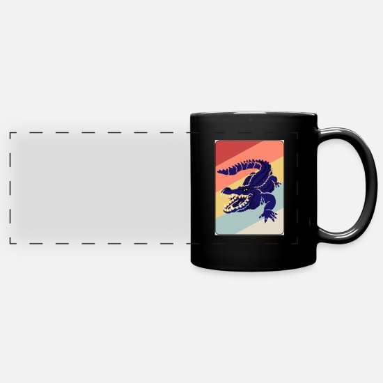 Crocodile Mugs & Drinkware - Crocodile Aligator predator reptile gift - Panoramic Mug black