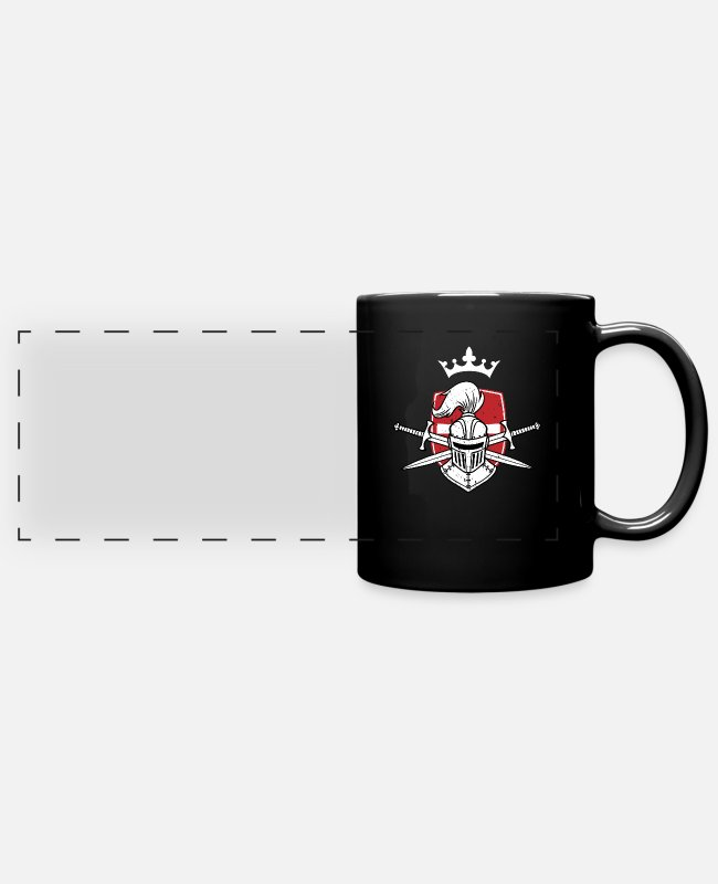 Sparta Mugs & Drinkware - Crusader Knight Christianity Christian Crusade - Panoramic Mug black