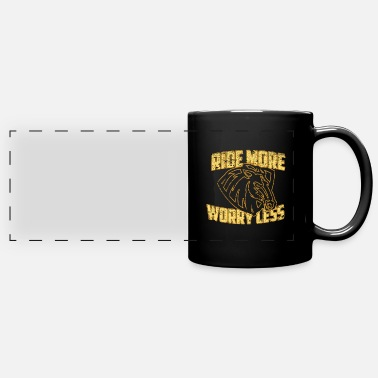 Back Yard Horse riding yard gift - Panoramic Mug