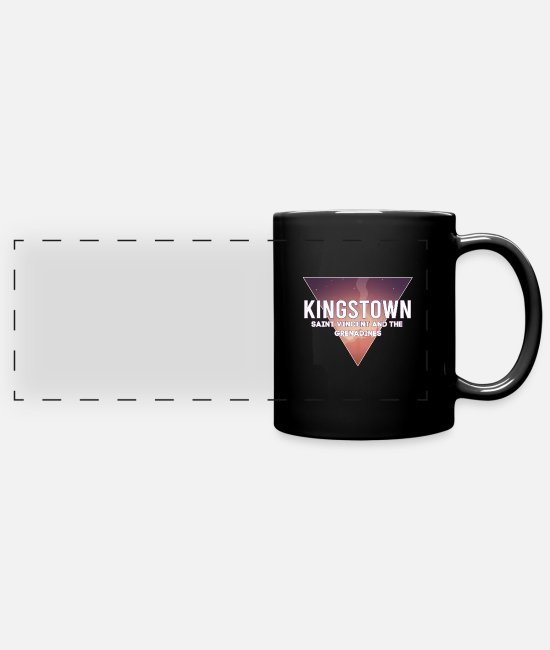 Travel Mugs & Drinkware - St. Vincent and the Grenadines capital Landsch - Panoramic Mug black