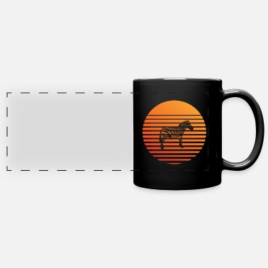 Zebra silhuette in the sunset - Panoramic Mug