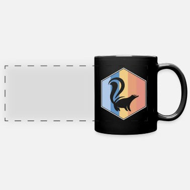 Skunk retro and vintage hexagon - Panoramic Mug