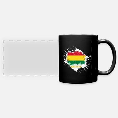 Capitalism bolivia flag with blob - Panoramic Mug