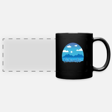 Colombo dream vacation in blue - Panoramic Mug